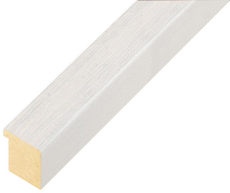 Moulding ayous, width 20mm height 20 - White, open grain
