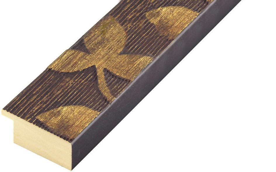 Corner sample of moulding 406BRONZO