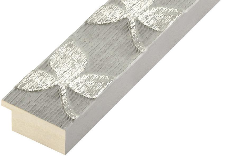 Straight sample of moulding 406PERLA