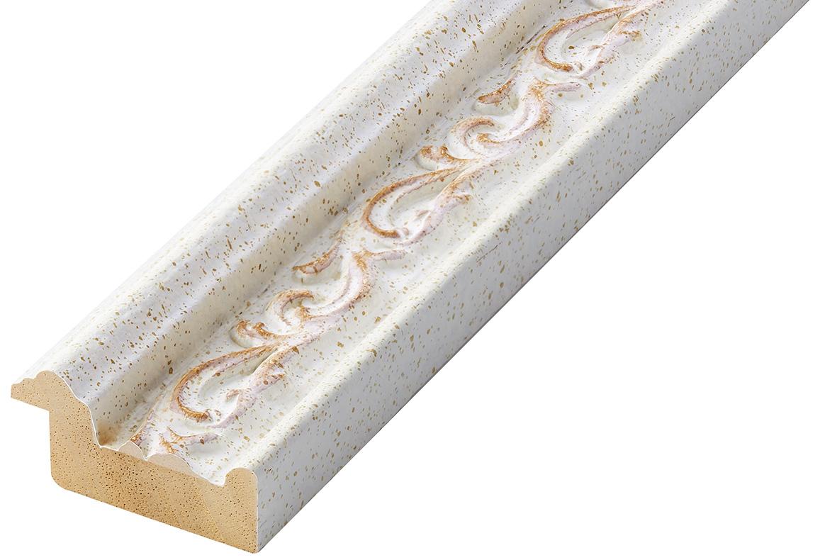 Corner sample of moulding 409BIANCO