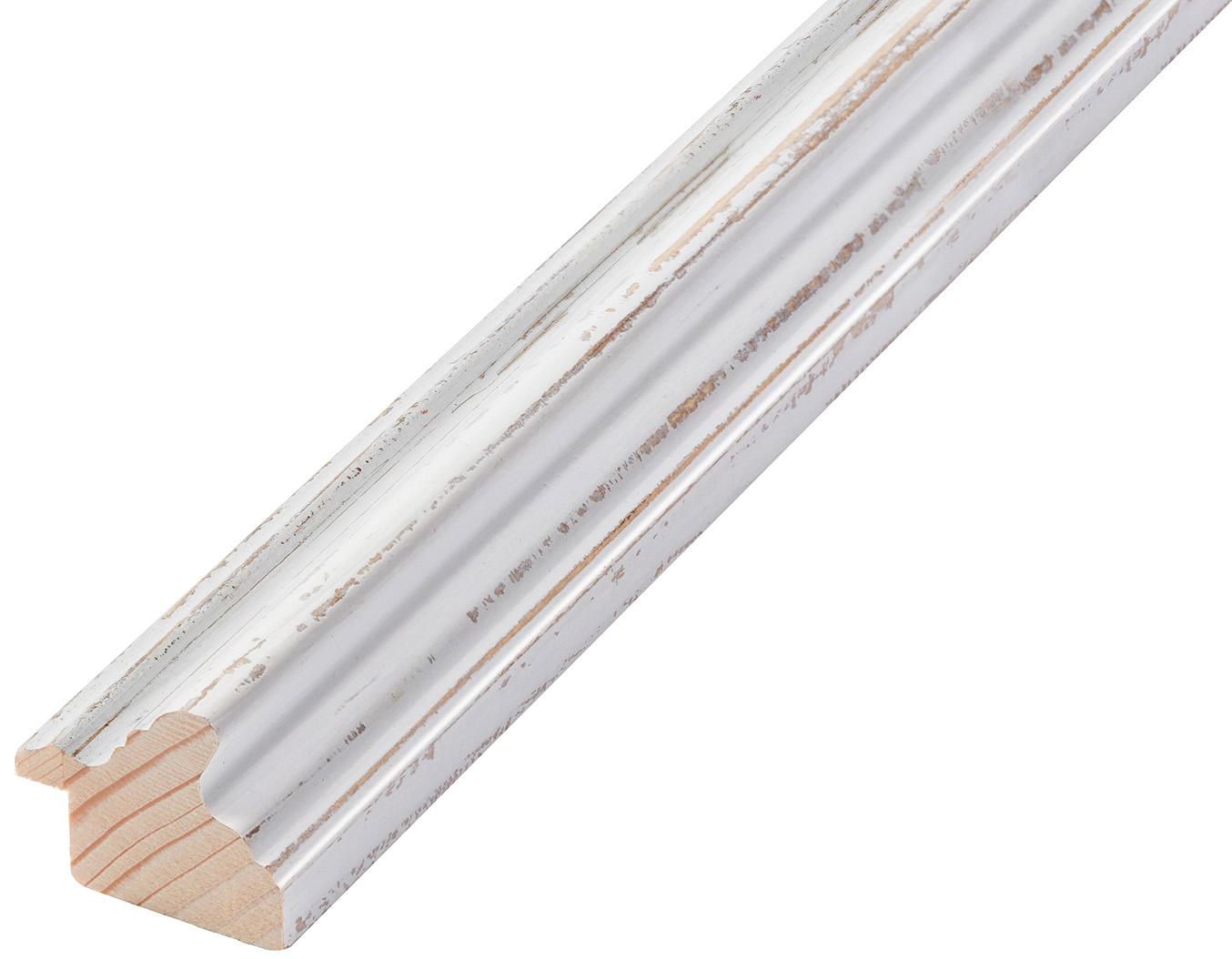 Corner sample of moulding 441BIANCO