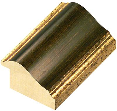 Corner sample of moulding 521BROWN