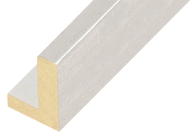 Straight sample of moulding 583BIANCO