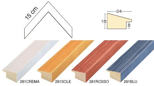 Complete set of corner sample of moulding 281 (4 pieces)