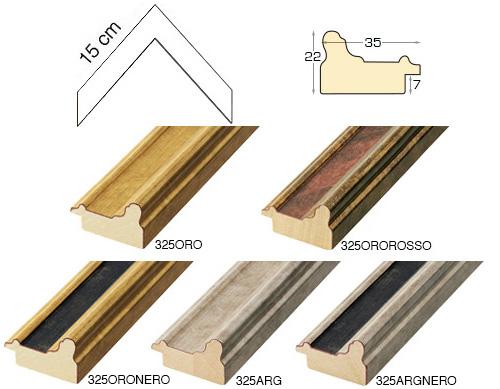 Complete set of corner samples of moulding 325