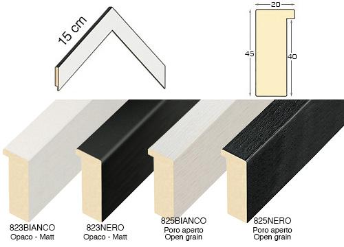 Complete set of corner samples of moulding 823
