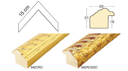 Complete set of corner samples of moulding 942