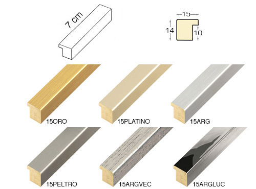 Complete set of straight samples of moulding 15