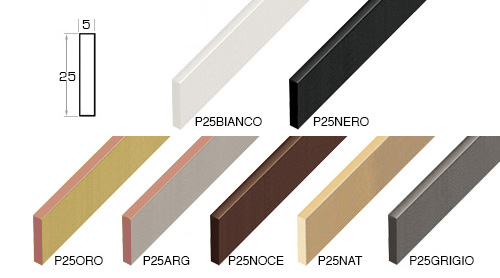 Complete set of straight samples of moulding 251 (7 pieces)