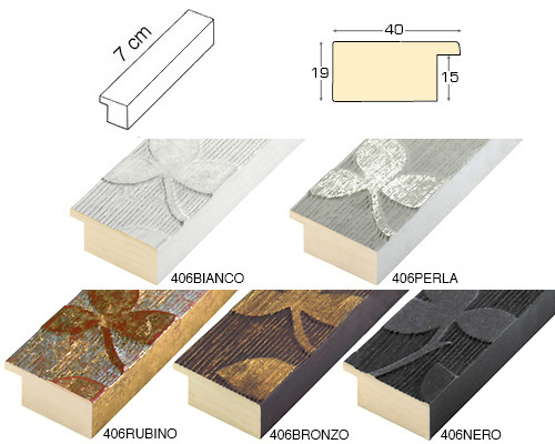 Complete set of straight samples of moulding 406