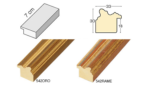 Complete set of straight samples of moulding 542