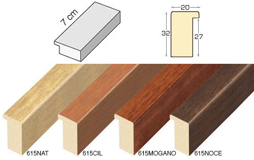 Complete set of straight samples of moulding 615