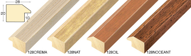 Complete set of straight samples of moulding 128 (5 pieces)