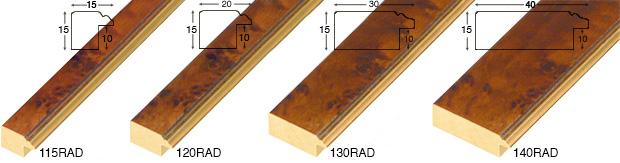 Corner sample of moulding 130RAD
