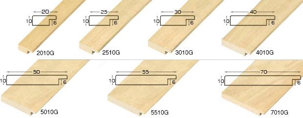 Corner sample of moulding 4010G