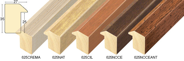 Complete set of straight samples of moulding 625 (5 pieces)