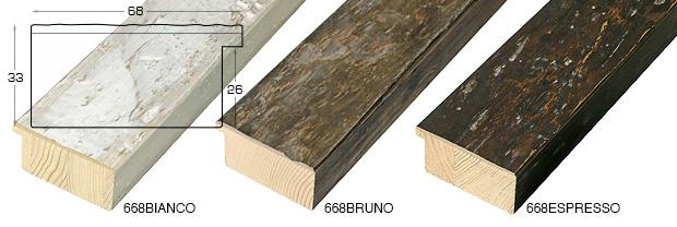 Corner sample of moulding 668BIANCO