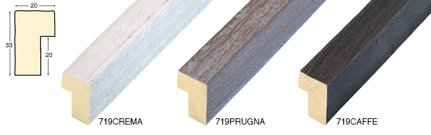 Straight sample of moulding 719CREMA