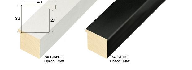 Corner sample of moulding 742BIANCO
