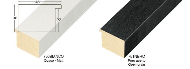 Corner sample of moulding 751BIANCO