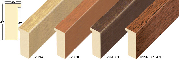 Corner sample of moulding 823NAT