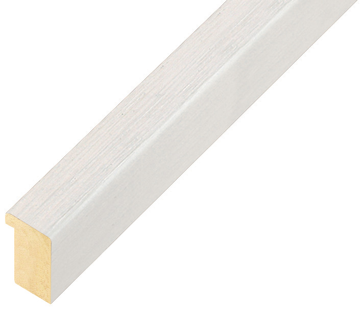 Straight sample of moulding 116BIANCO