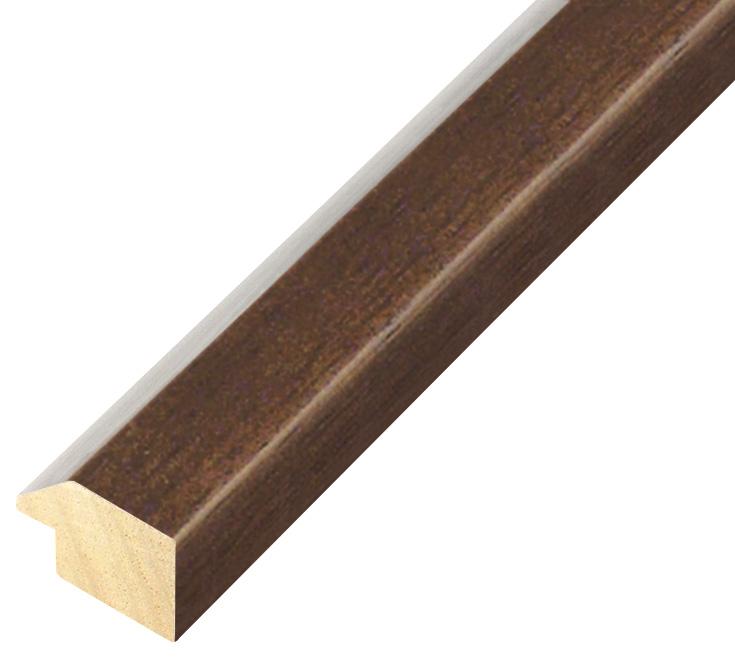 Moulding ayous, width 28mm height 20 - Walnut