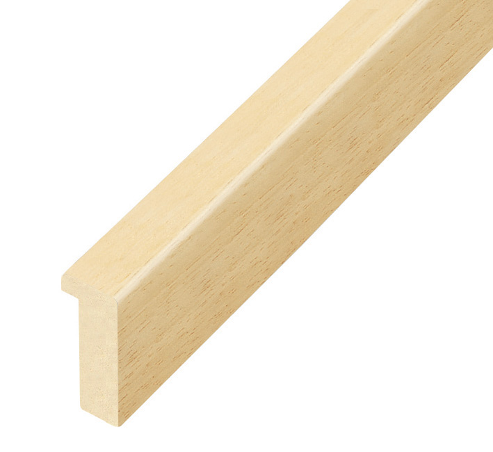 Moulding ayous, width 15mm, height 32mm, bare timber
