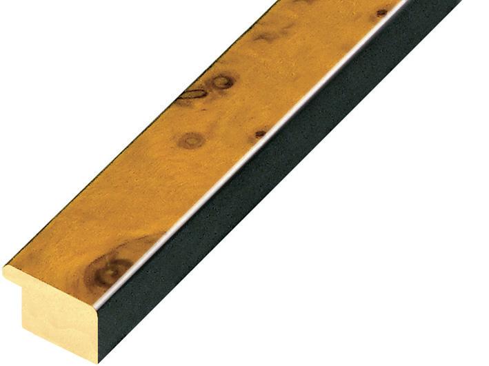 Moulding burl veneer Width 20mm - honey, glossy