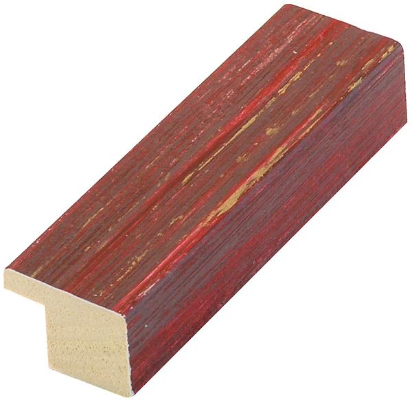 Moulding ayous flat 20mm - mottled, red