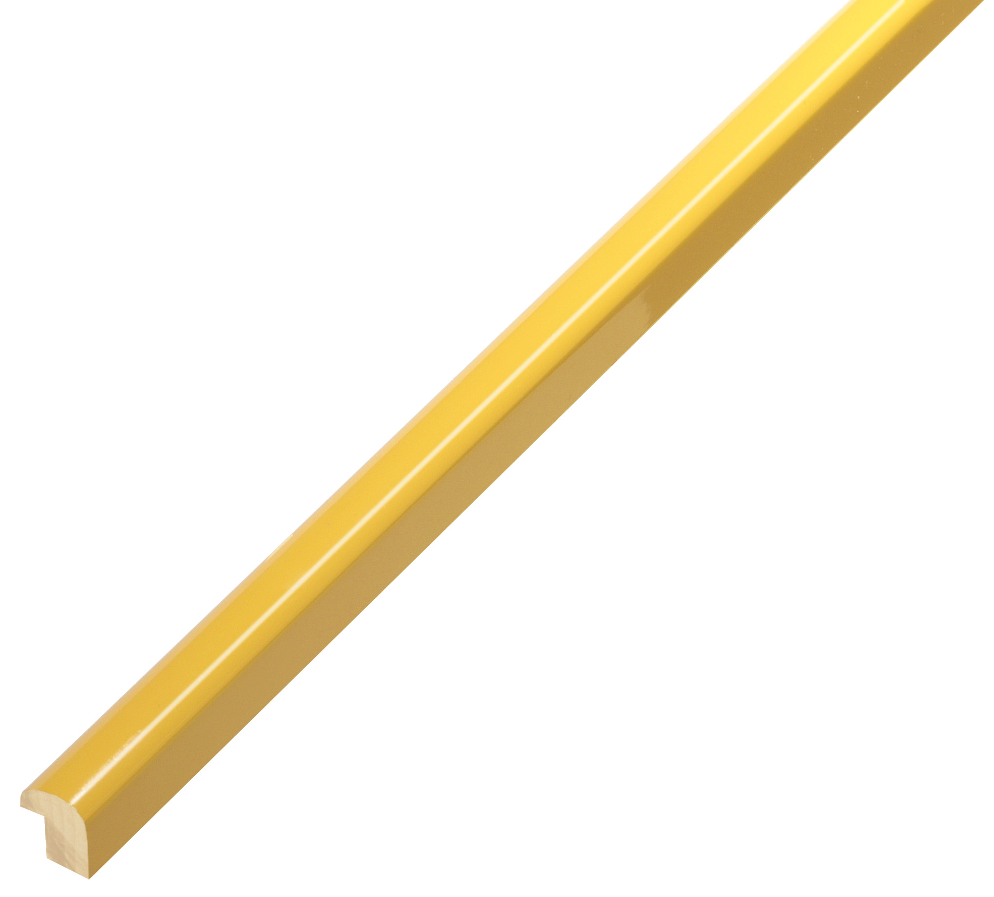 Moulding ramin - width 11mm height 13 - glossy jellow