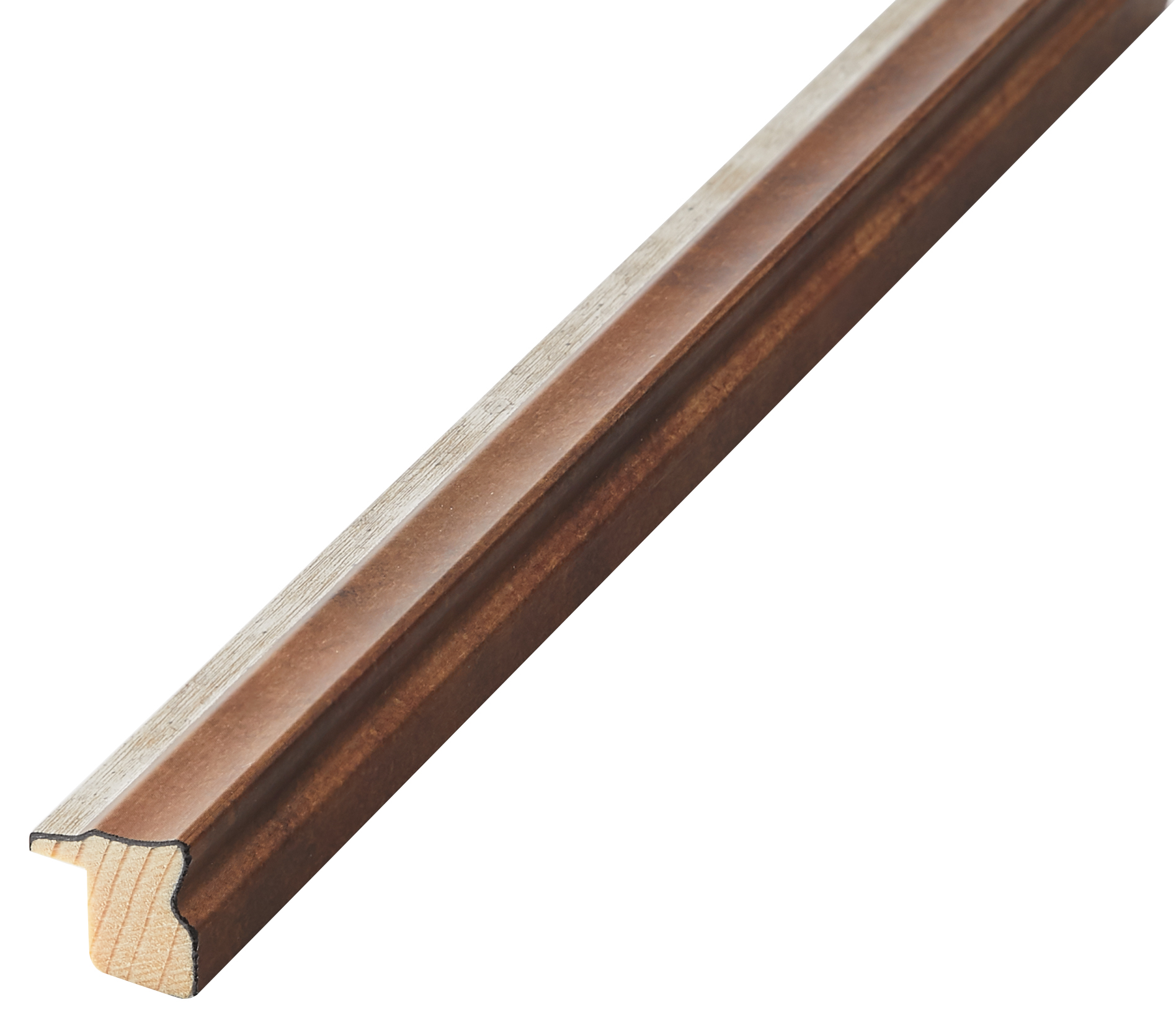 Moulding finger-joint pine Width 16mm Height 16, Copper