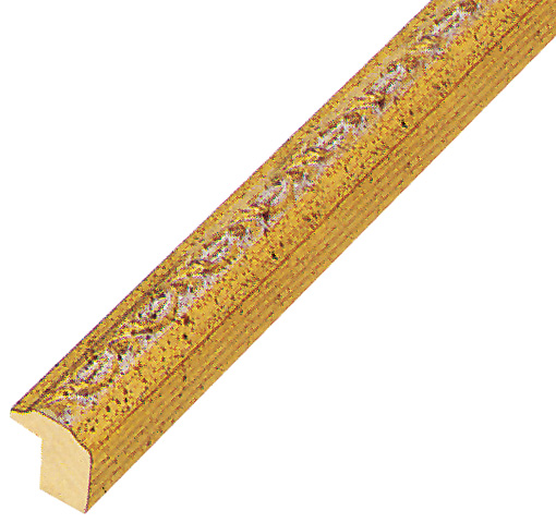 Moulding ayous 14mm - gold, gold decorative relief