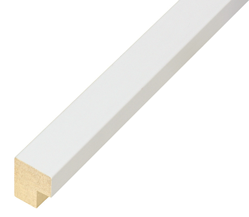 Moulding ayous, width 20mm height 20 - Mat White