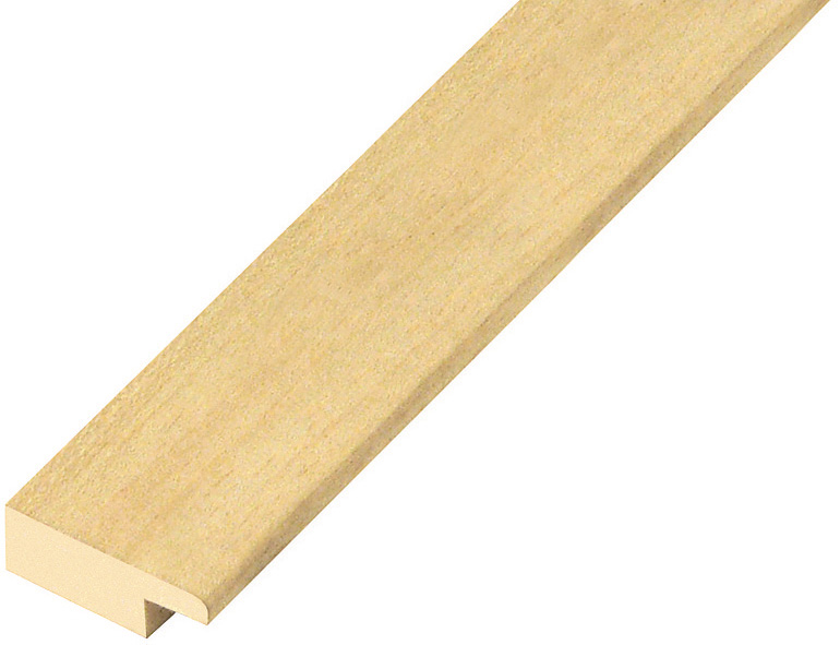 Moulding ayous, width 25mm, height 10mm, bare timber
