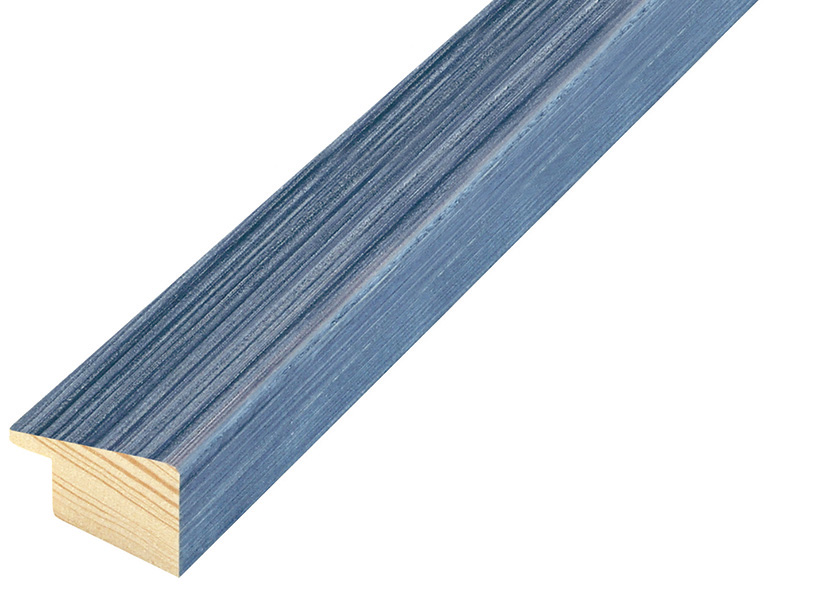 Moulding fir, width 24mm, height 018, striated - blue