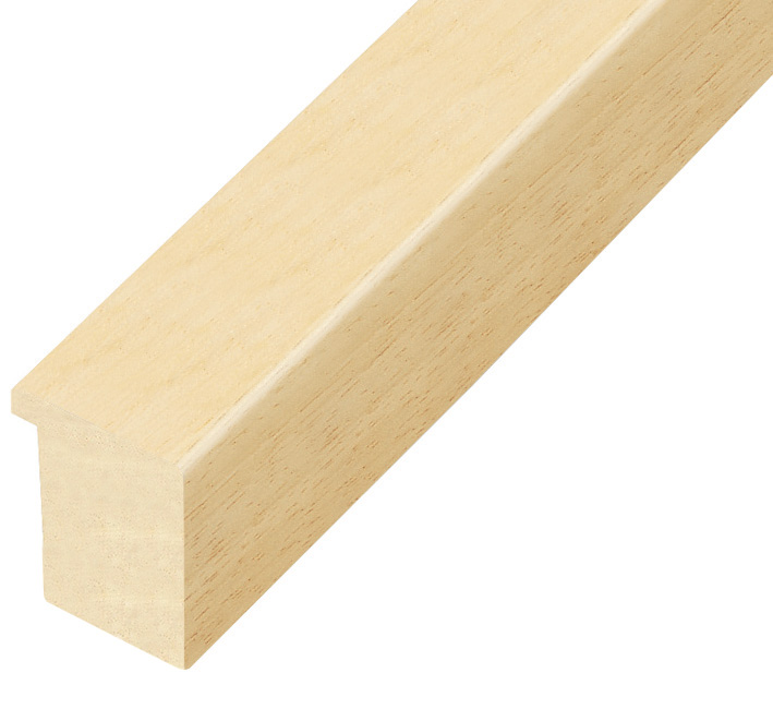 Moulding ayous, width 30mm, height 32mm, bare timber