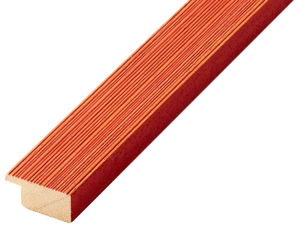 Moulding ayous, width 30mm height 14 - streaked orange finish