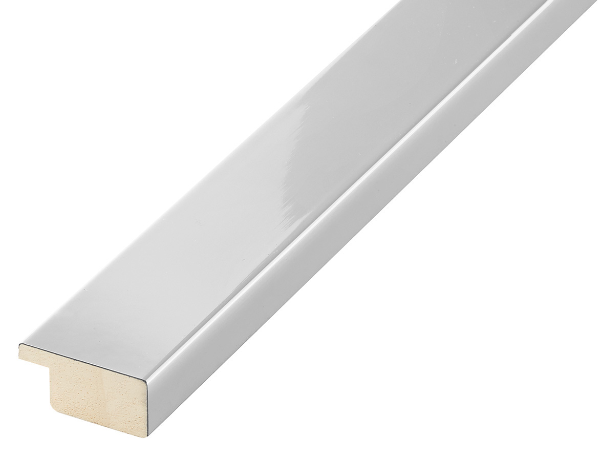 Moulding ayous, width 30mm height 14 - bright silver