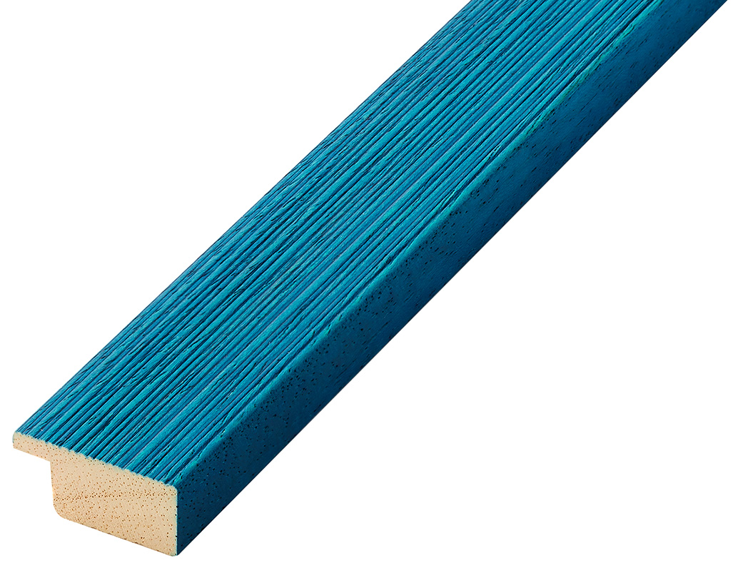 Moulding ayous, width 30mm height 14 - streaked blue finish