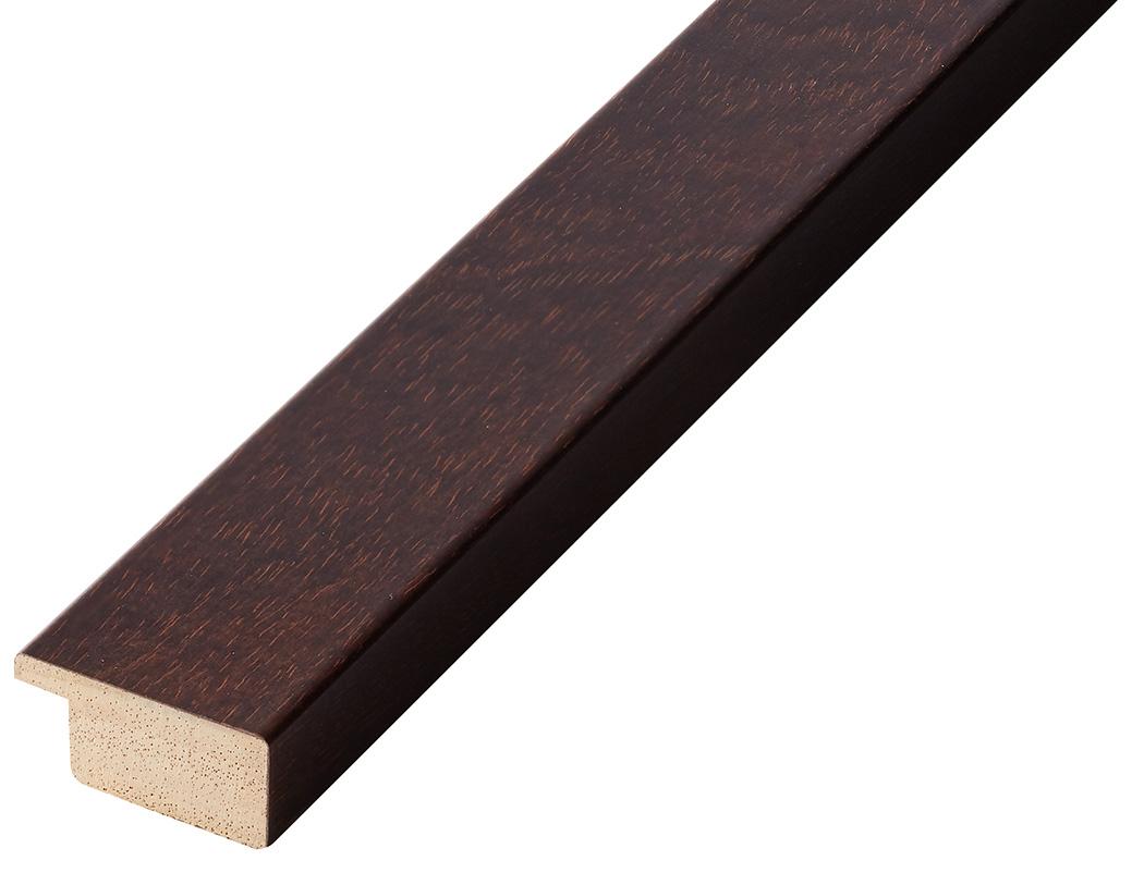 Moulding ayous, width 30mm height 14 - walnut
