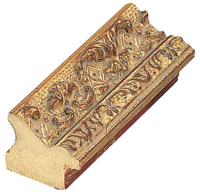 Moulding ayous 27mm - gold with relief decorations