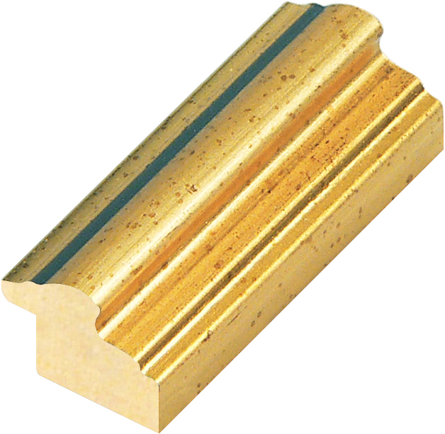 Moulding ayous 29mm - gold leaf finish