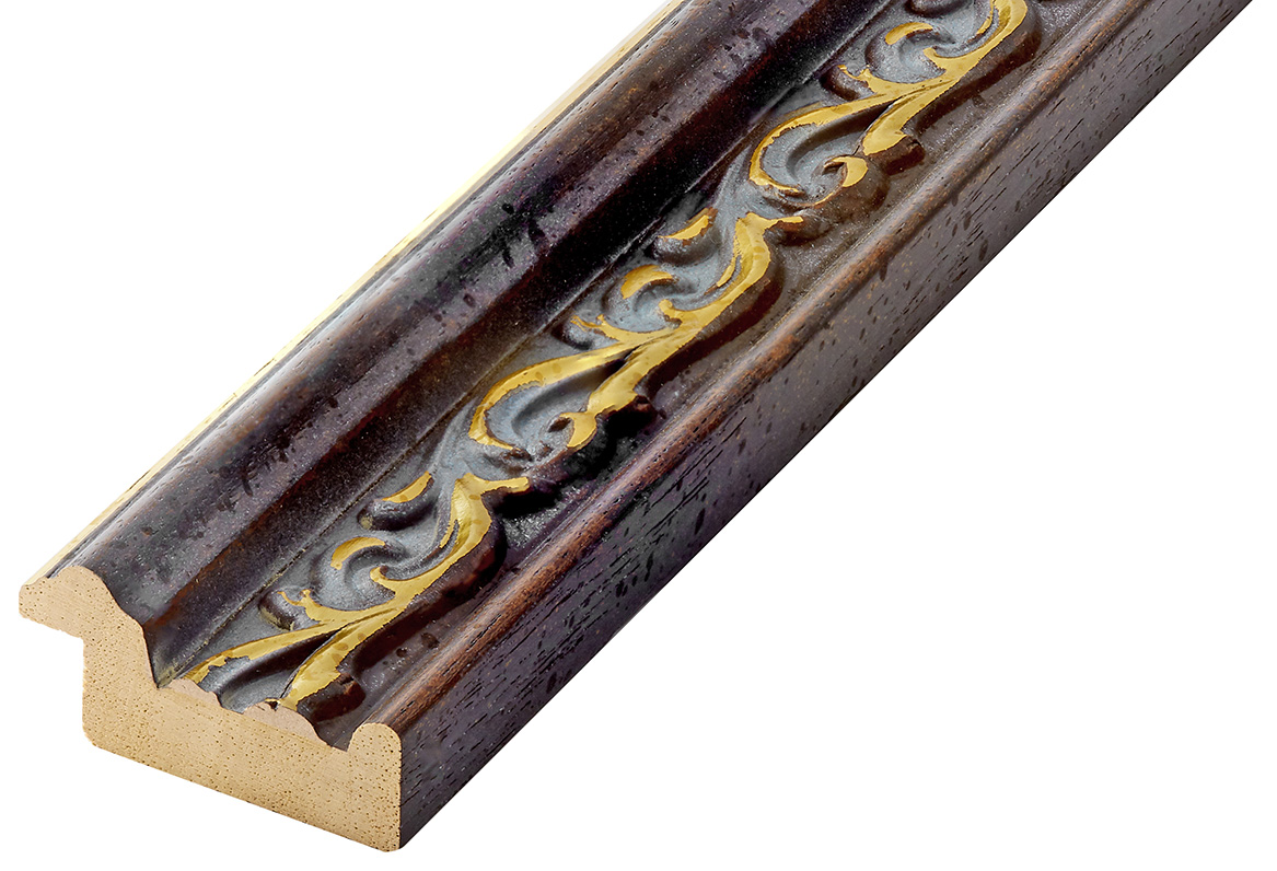 Moulding ayous Width 44mm Height 22, walnut, decorations