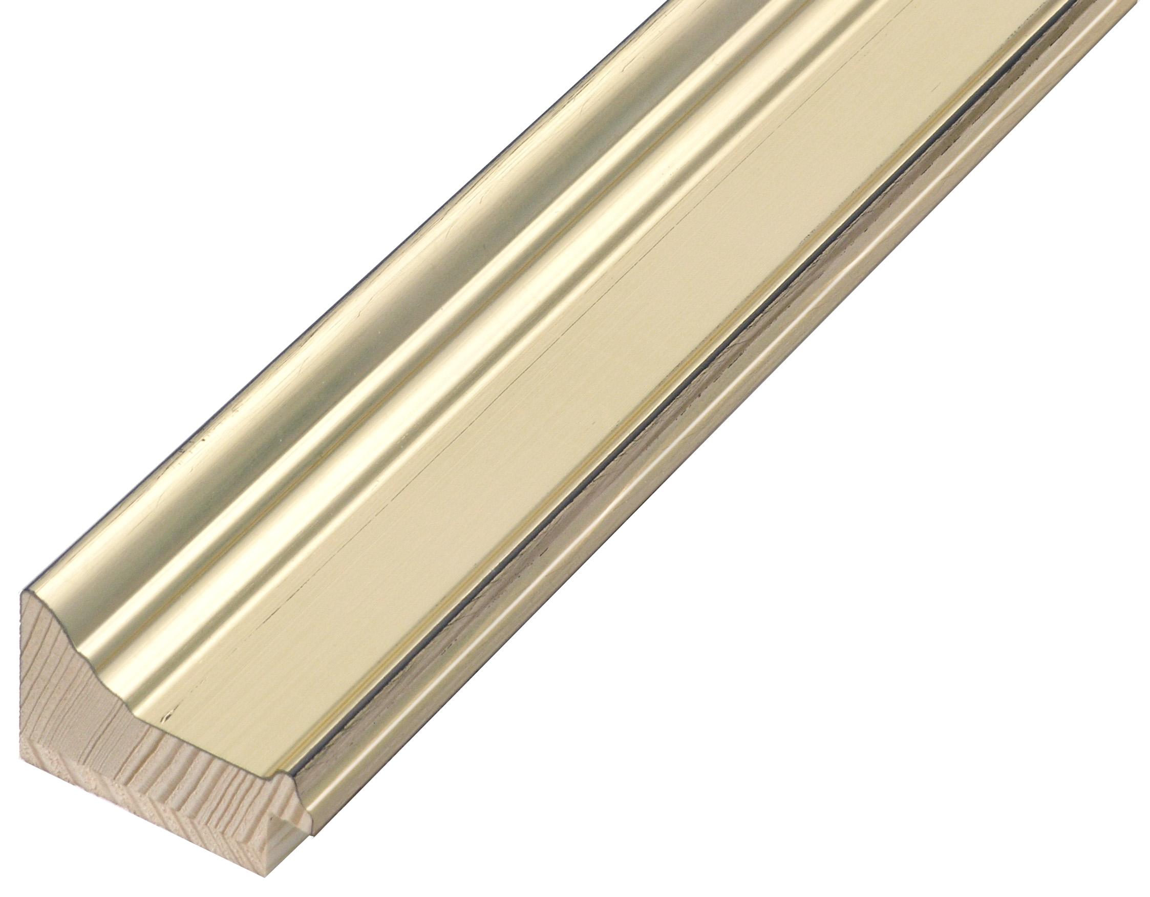 Moulding finger joint pine - width 42mm height 29 - platinum