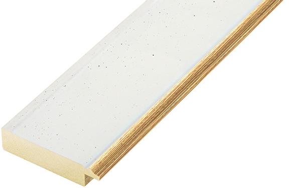 Liner ayous 45mm - flat, white, gold edge