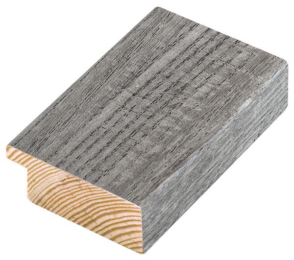 Moulding pine 45mm - veneered, colour ash (mt 22)
