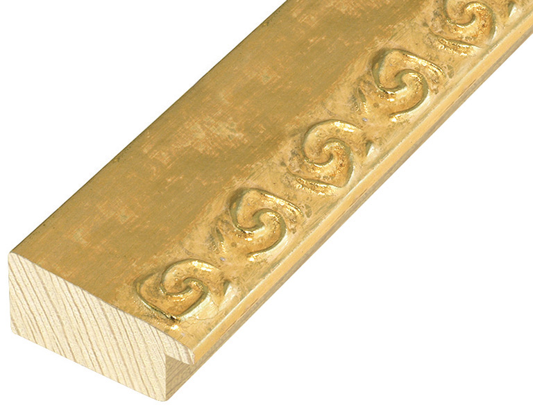Straight sample of moulding 462ORO