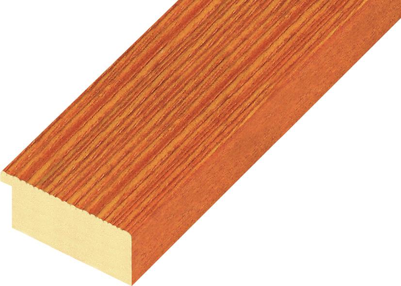 Moulding ayous, width 48mm height 20 - streaked orange finish