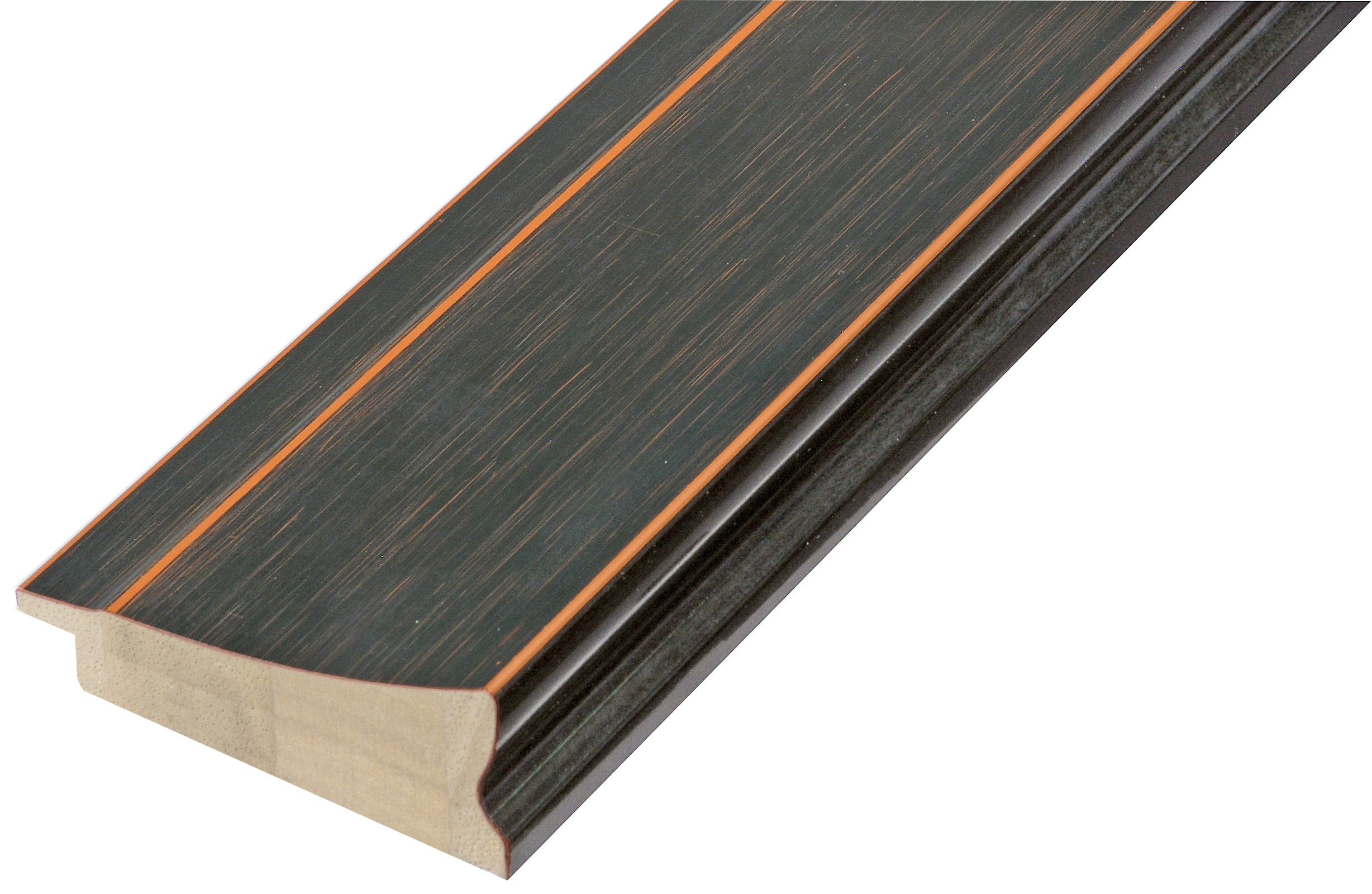 Moulding fir timber - Width 68mm - Black finish